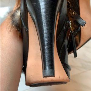 High heel Ugg boots.